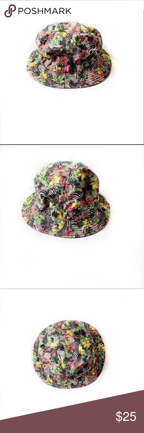 2579fe7436b Vans Safari Jungle Floral Bucket Hat One Size Vans Safari Jungle Floral Bucket  Hat One Size