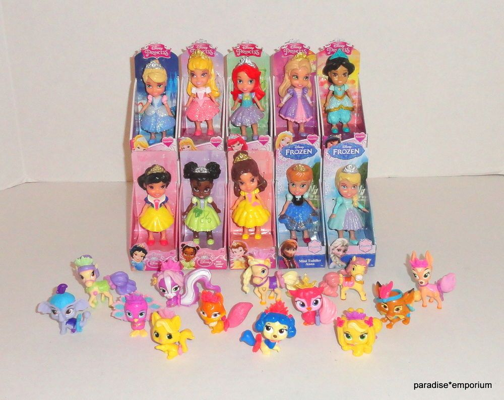 New Disney Princess Mini Dolls 10 Palace Pets Set Lot Toddler Doll 2 Toddler Dolls New Disney Princesses Ariel Doll
