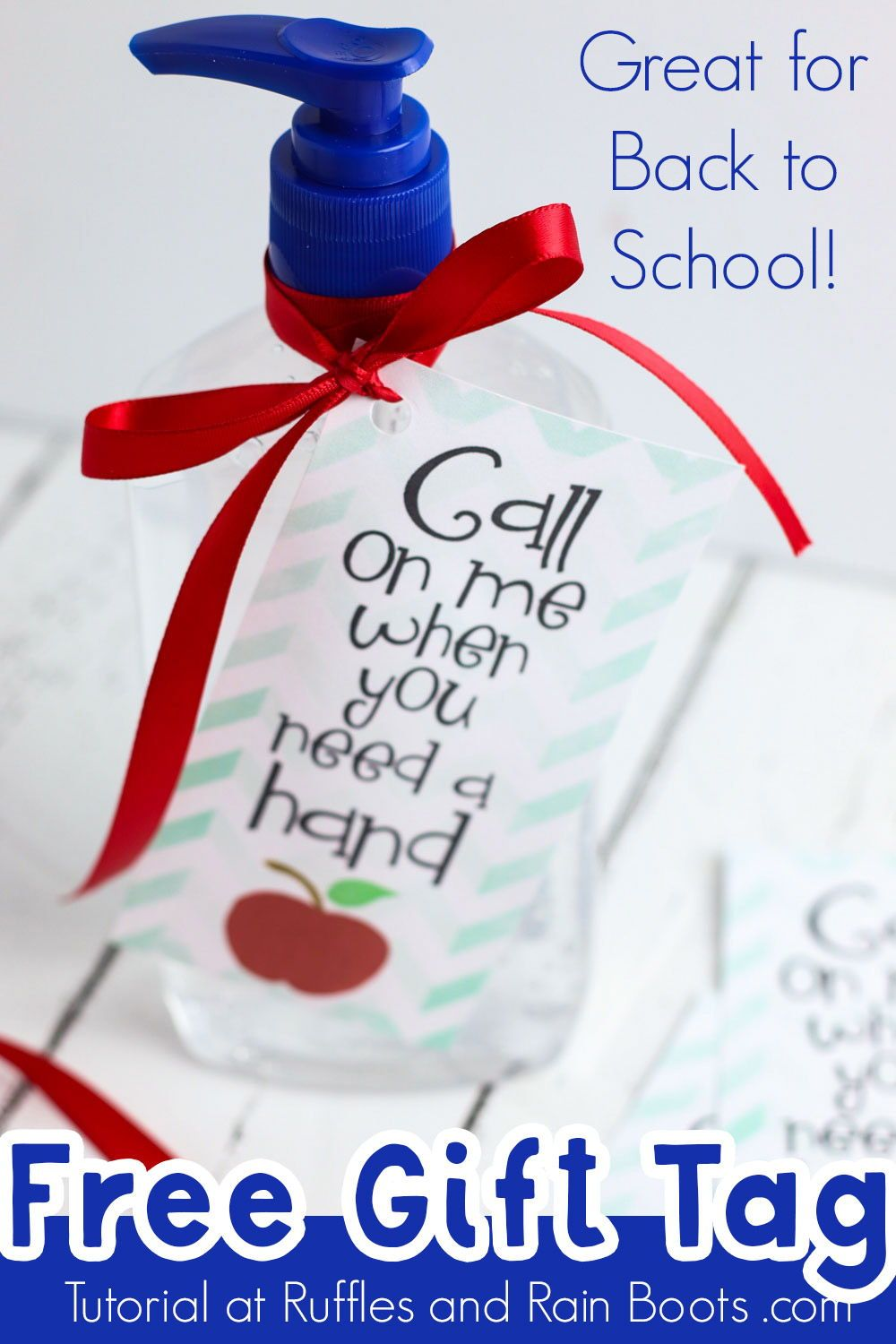 Use This Hand Sanitizer Printable For A 5 Minute Back To School
