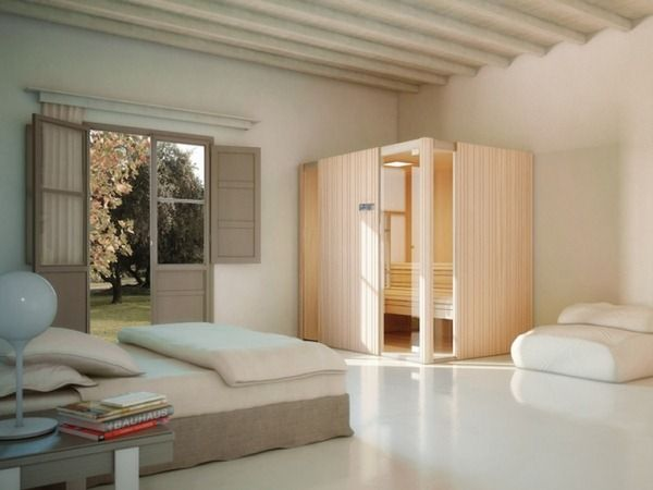 Sauna Auki bathroom bedroom effetti    room-decorating-ideas - schlichtes sauna design holz seeblick