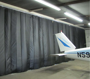 Using an Industrial Insulated Curtain in an aircraft