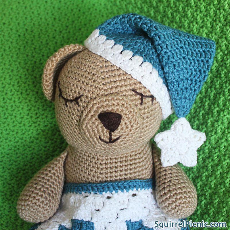 Sleepy Bear s Night Cap Crochet Pattern  70b8377f793