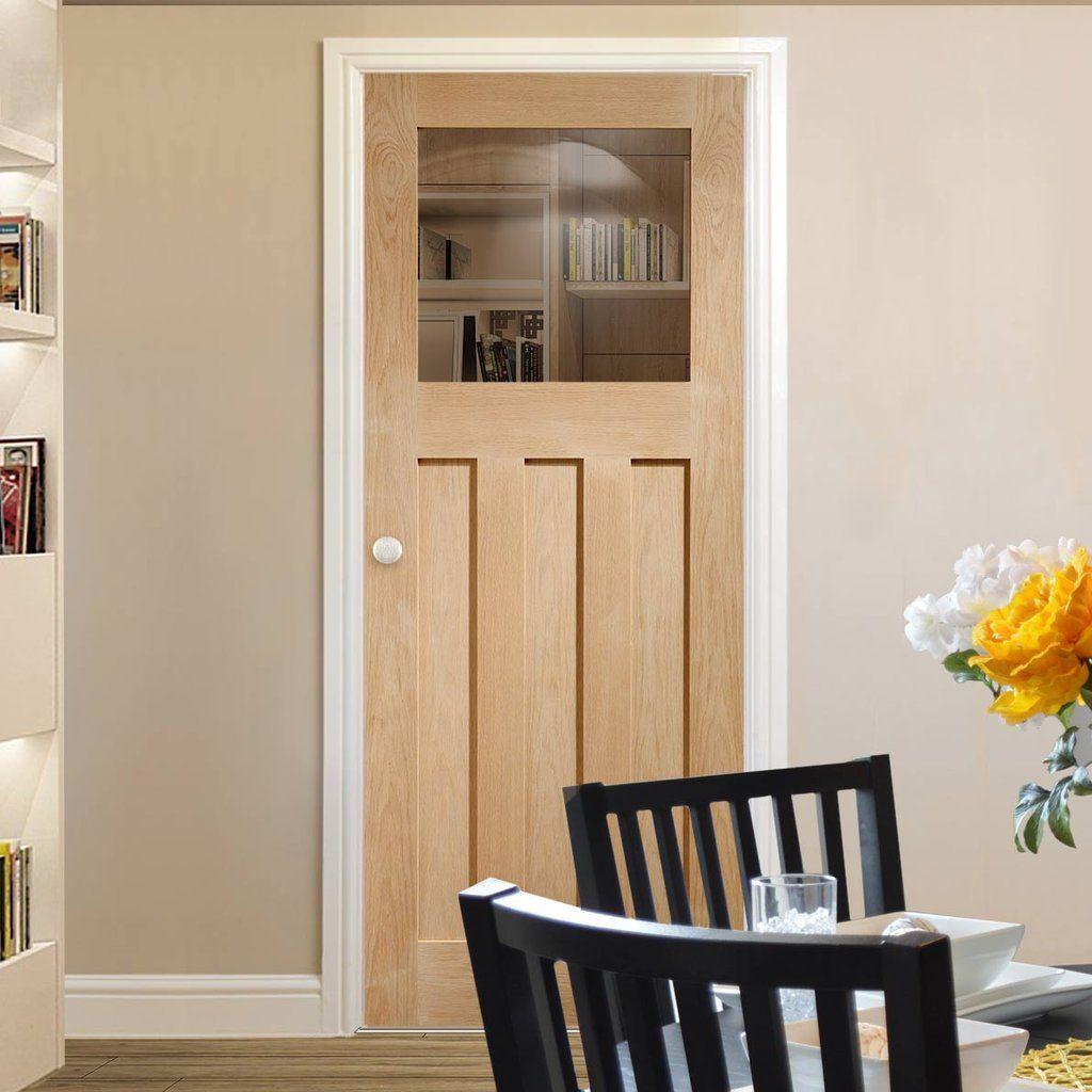 Bespoke Dx Oak 1930 S Style Glazed Door White Interior Doors Internal Glass Doors Glass Doors Interior