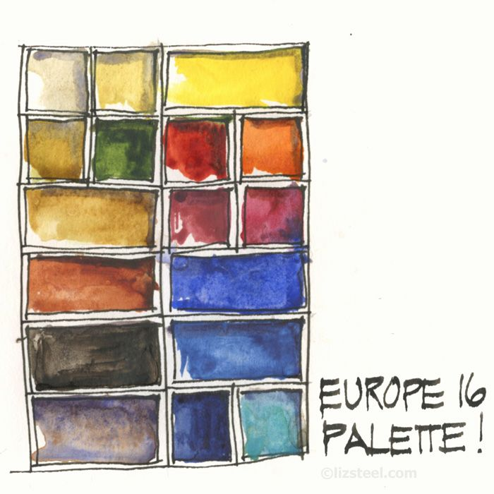 Europe16 Trip Watercolour Palette Revealed Liz And Borromini