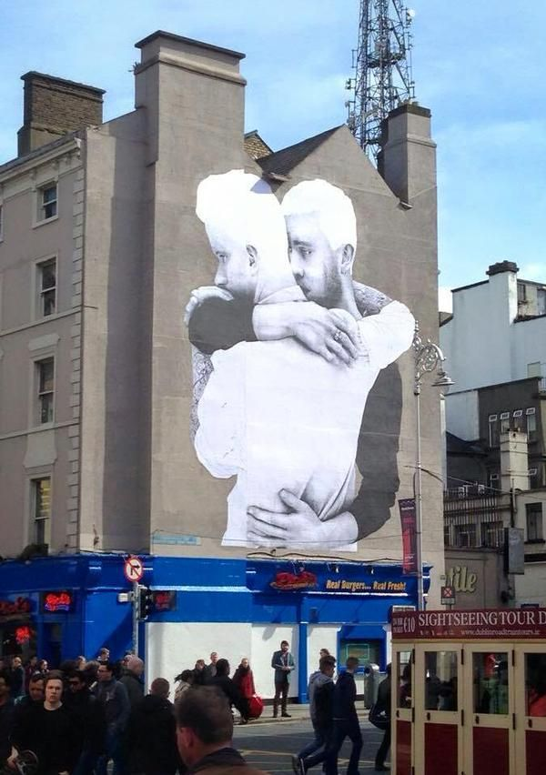 For the love of marriage equality mural on building in for Dublin gay mural
