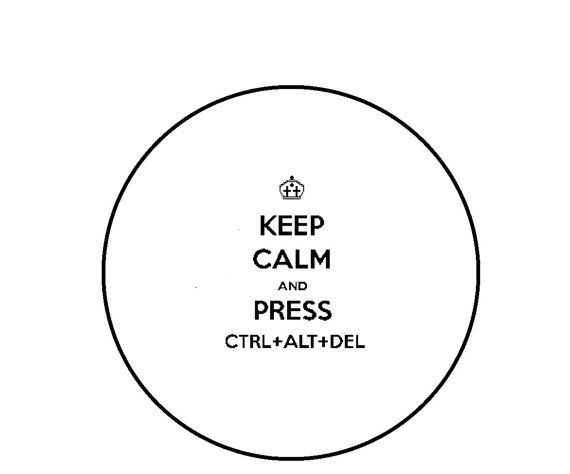 Geek Cross Stitch Pattern Keep Calm and CTRL by CrossStitchDiva, $4.50