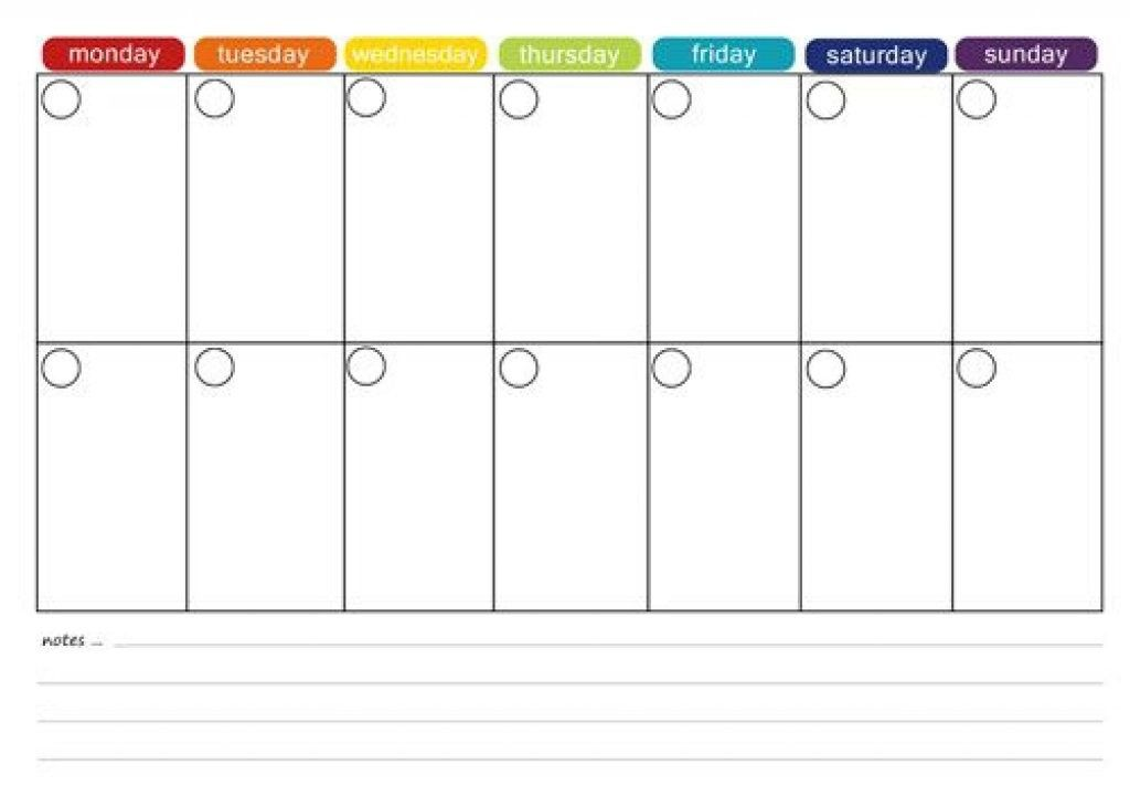 Printable 2 Week Calendar Two Template