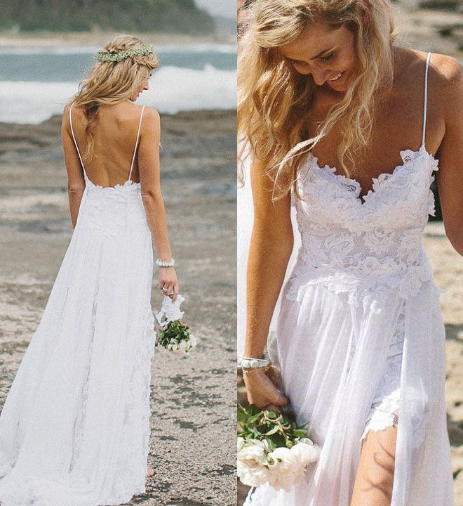 LOVELY BEACH WEDDING DRESS INSPIRATION