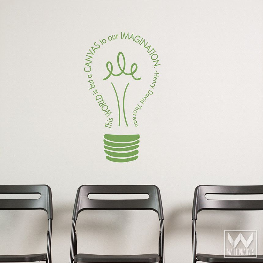 Perfect Imagination Light Bulb Vinyl Wall Decal