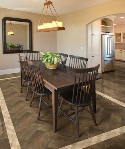 Dining Room Flooring: Real Wood Look Using Porcelain Or Ceramic Tiles