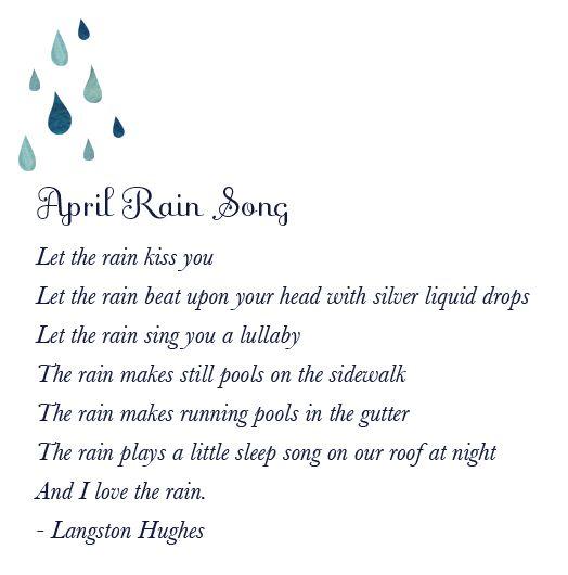 April Rain Song. | April rain, Poems, April showers