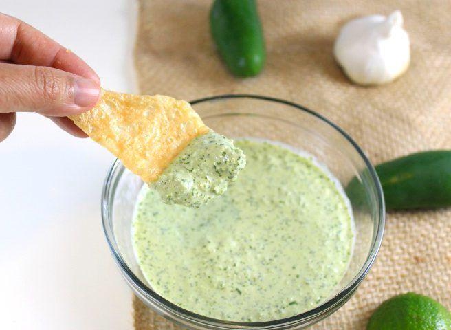 Creamy Cilantro Sauce #cilantrosauce