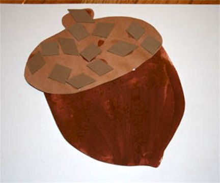 Cinnamon Acorn. preschoolers will have a blase sprinkling cinnamon on a wet painted surface (plus, it smells good)
