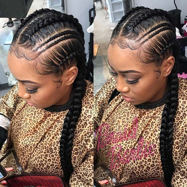 Marvelous Trendy Thin Double Feed In Braids