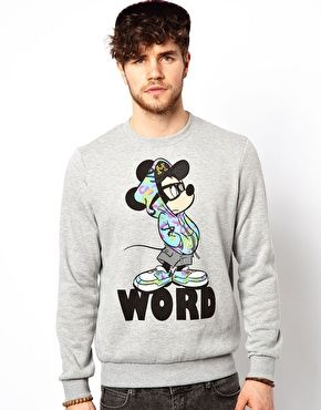 New Look Sweatshirt with Mickey Mouse Print