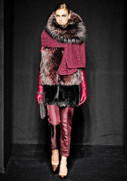 Layering Trend 4 Fall 2012  !     Fur over Wool over Fur with Leather.    Maurizio Pecoraro Fall-Winter 2012.