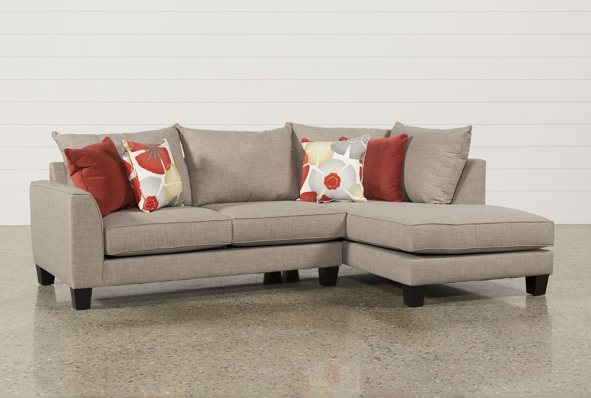 Kira 2 Piece Sectional W Raf Chaise