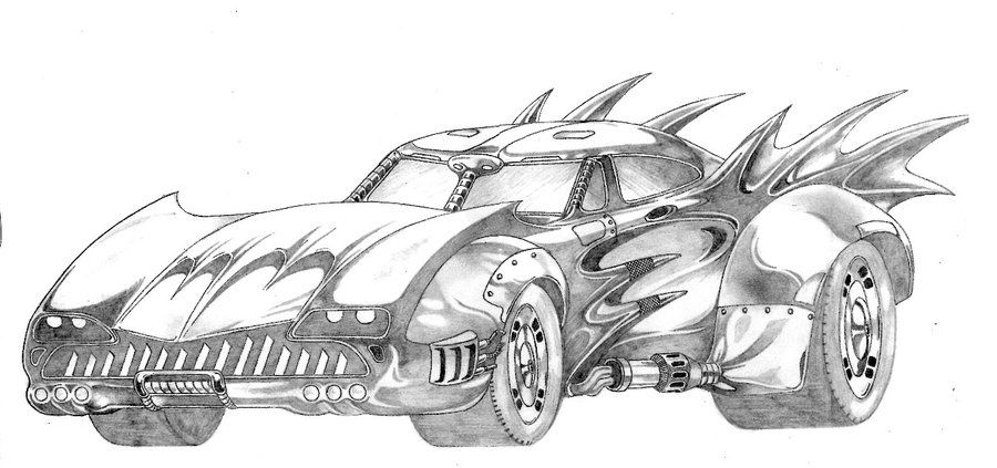 Batmobile Coloring Pages Batmobile By Famaulu On Deviantart