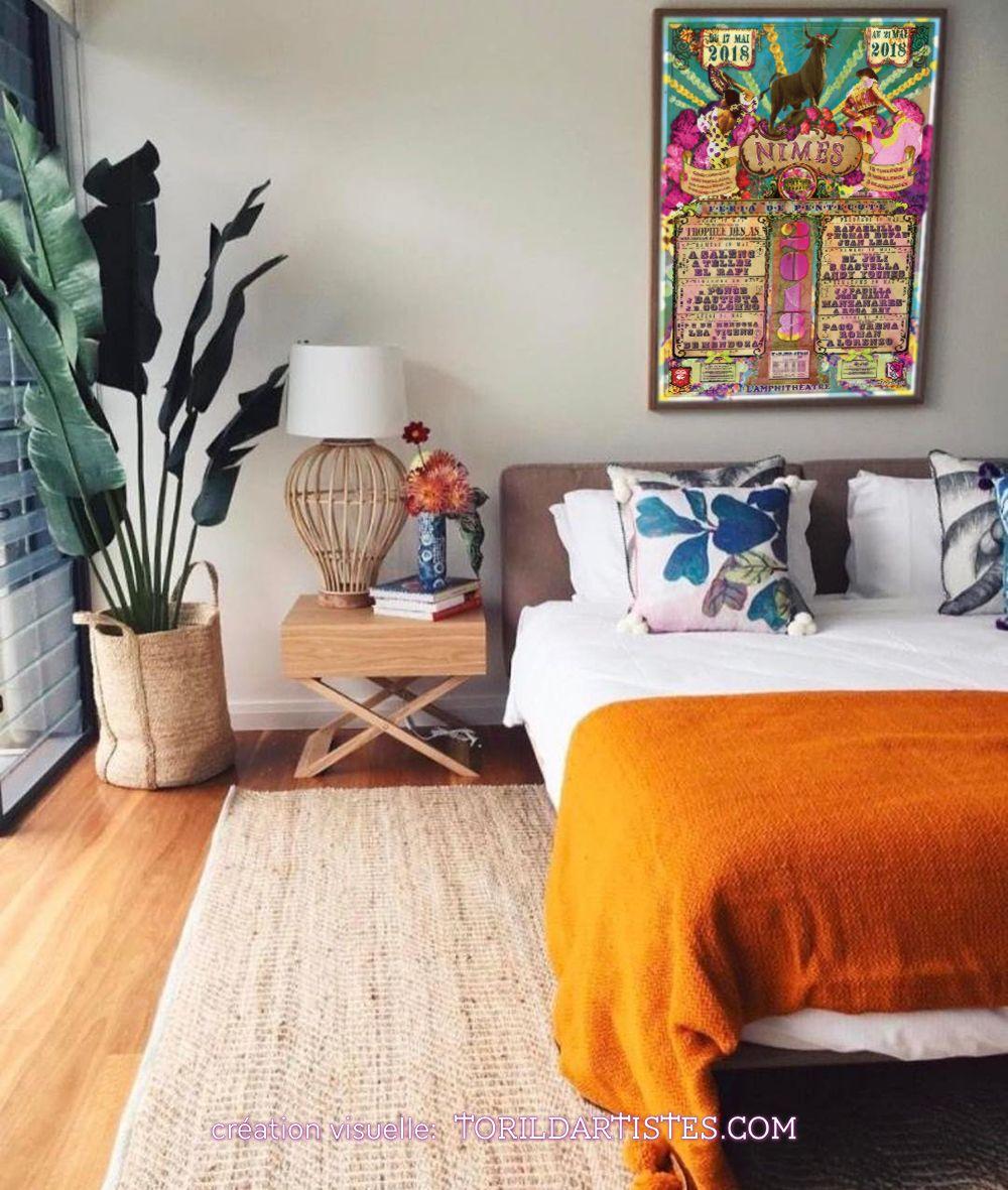 L Affiche 2018 Nimes Pentecote Toril D Artistes Decoration Chambre Deco Maison Deco Chambre A Coucher