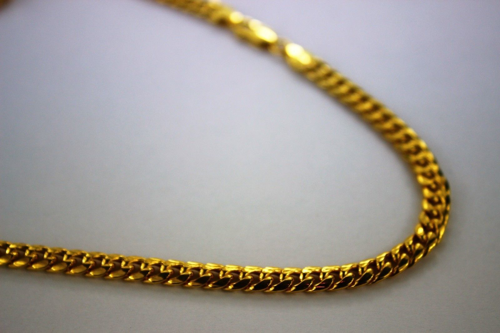 1b395d3b296f9 10K Authentic Hollow Yellow Gold Miami Cuban Link Chain Necklace Men ...