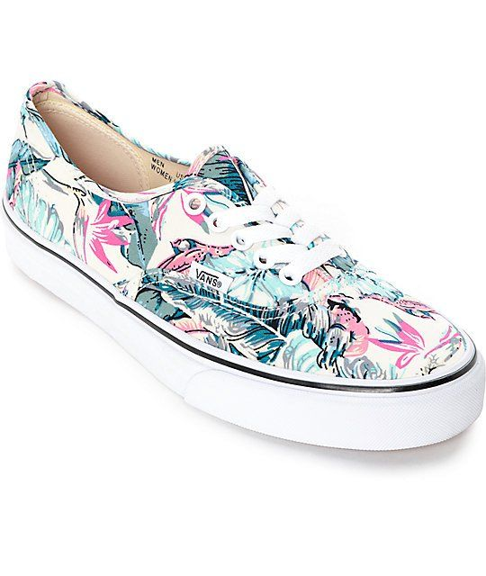 a50611edf7ccbd Vans Authentic Tropical True White Shoes (Womens)