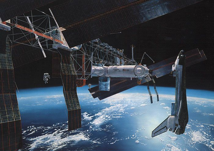 Nasa S Space Station Freedom Gavin Rothery Nasa Space Station Space Nasa Space Station