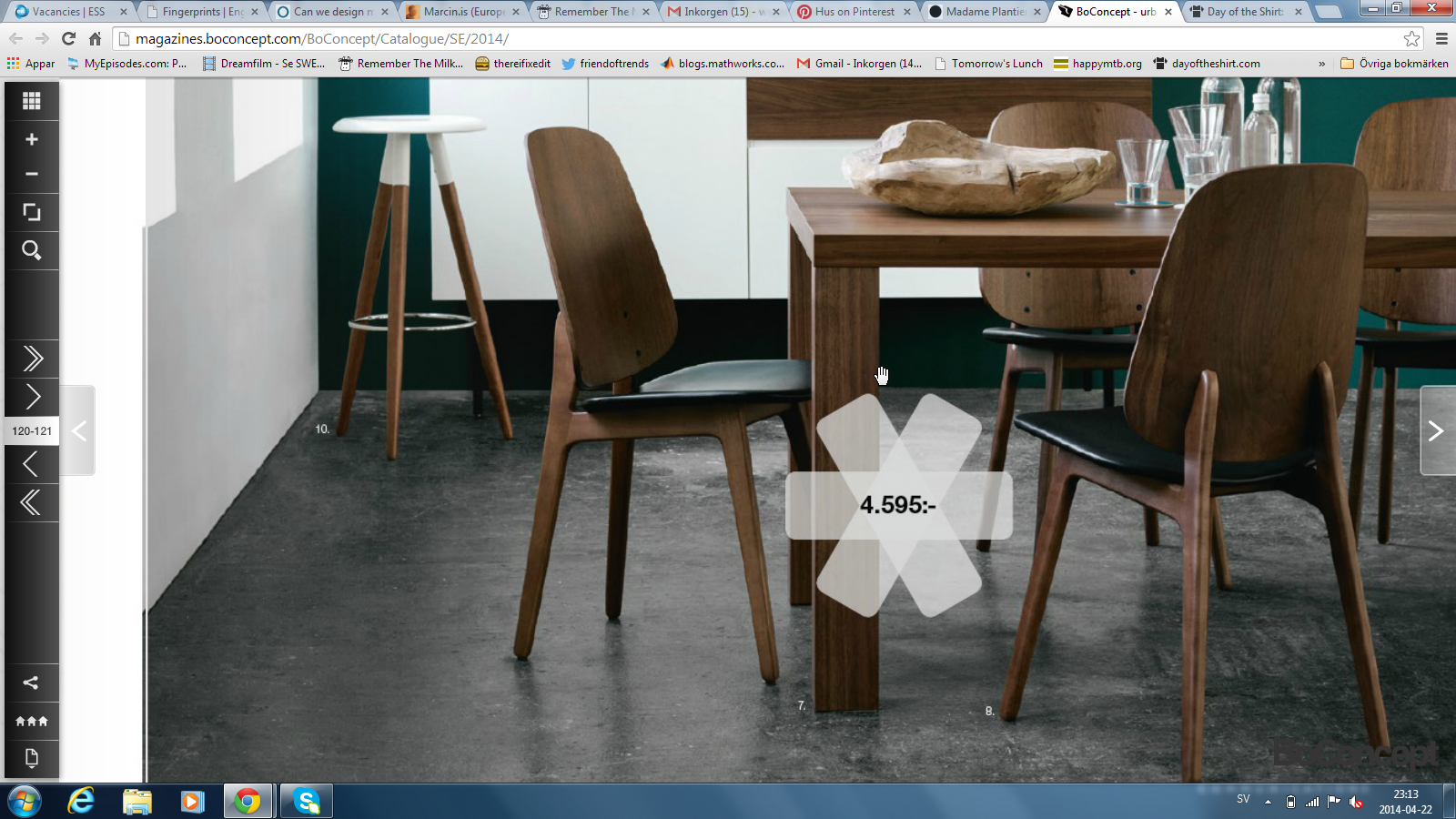 Bo concept valnöt faner Hus Chair, Boconcept, Dining chairs