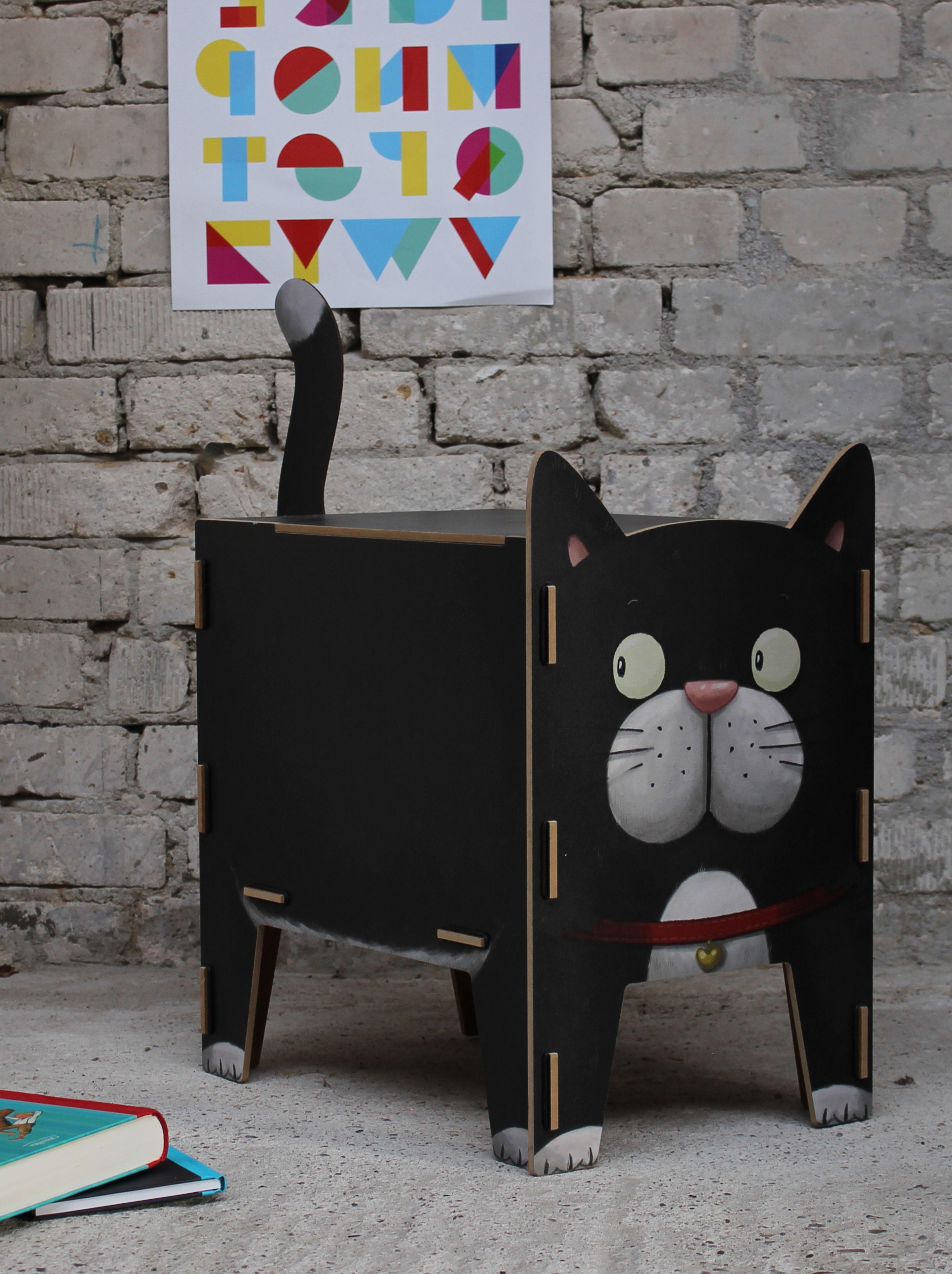 Hocker Vierbeiner Katze Stauraum ideen, Hocker mit