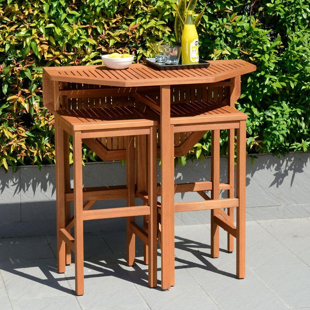 Southern Enterprises Trinidad Outdoor Patio Dining Table 400 x 300