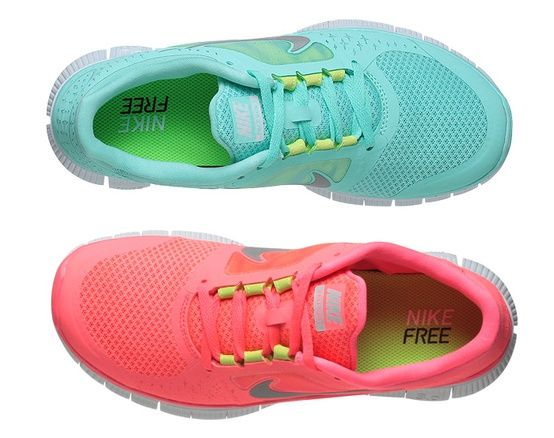 Neon Nike tennis shoes - Click image to