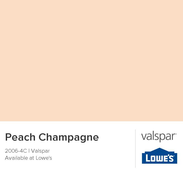 Color Chip Peach Champagne Valspar Paint Colors Peach Paint