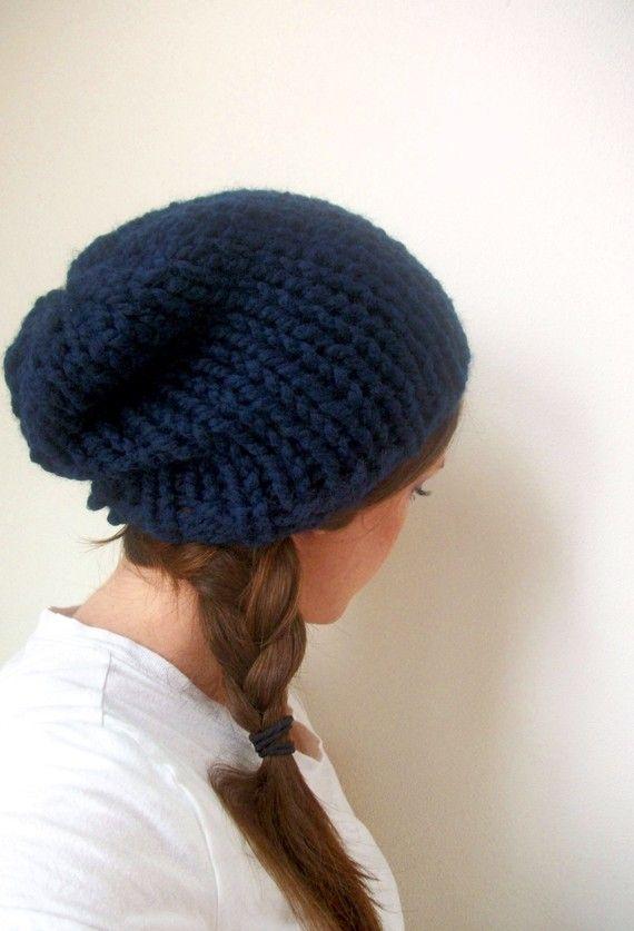 Schlapphut handgestrickte in Marineblau erhältlich in vielen ...