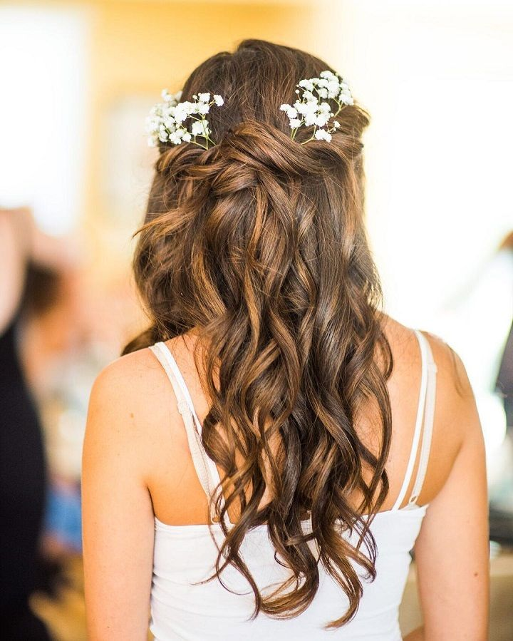 half up half down bridal hairstyle #weddinghair #bridalhairstyle #hairstyle #halfuphalfdown