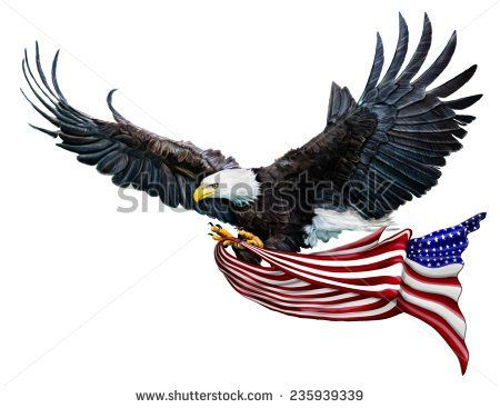 Image by Shutterstock America Usa Eagle United Men/'s Tee