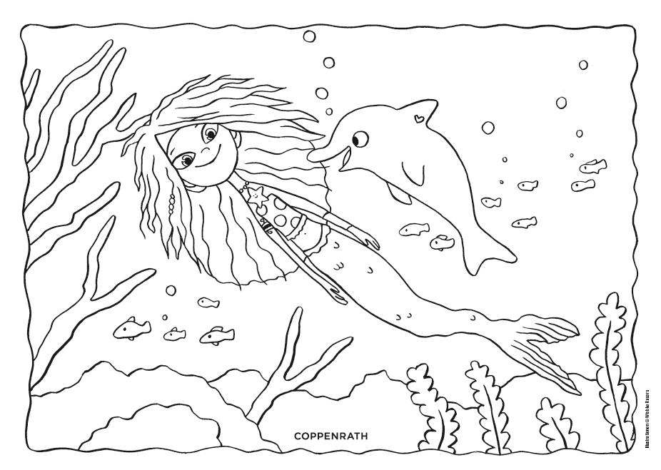Ausmalbild Meja Meergrun Ausmalbild Ausmalen Lillifee