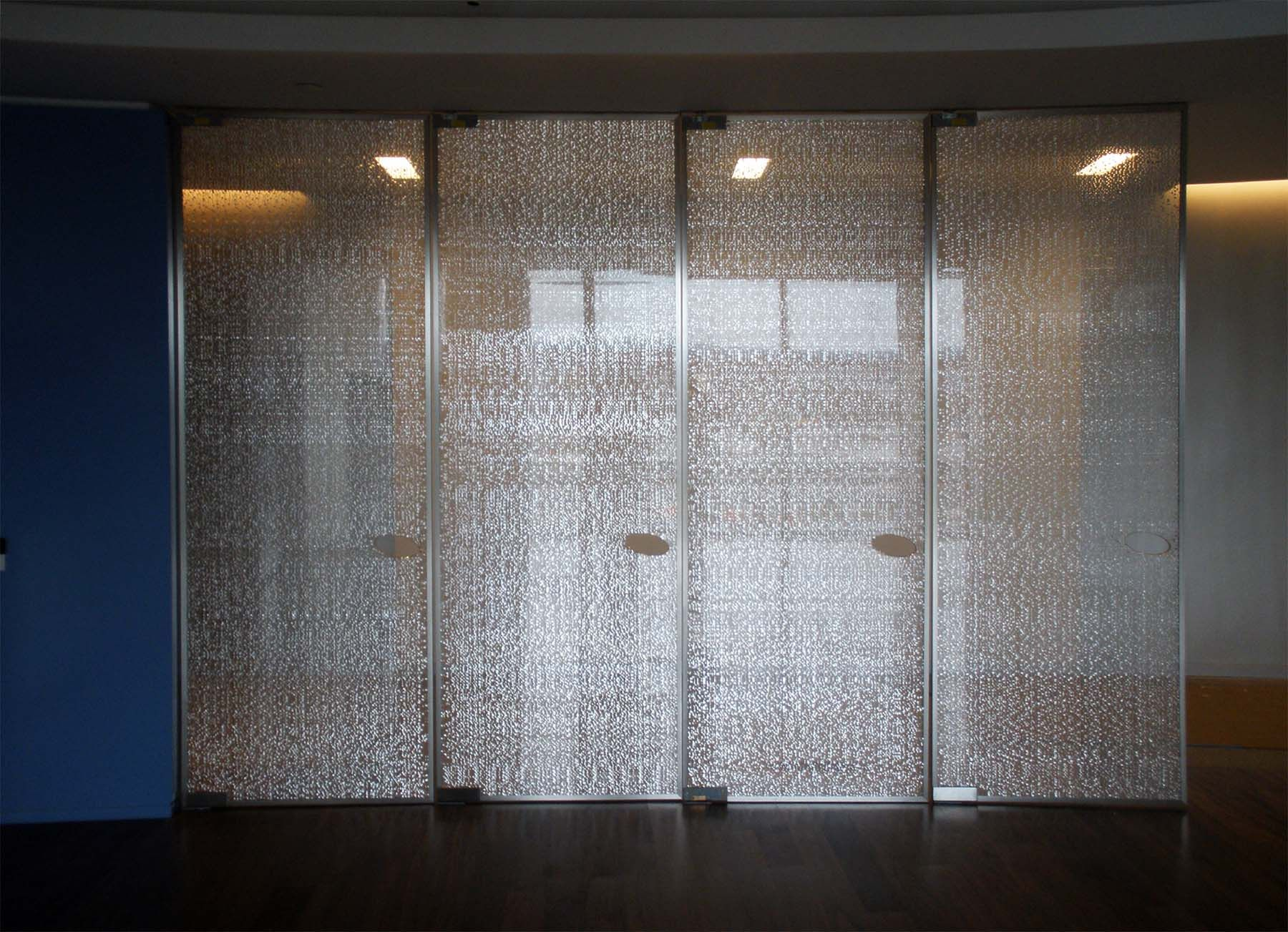 Sensitile jali cambia doors at nascar offices florida for Door design steel jali