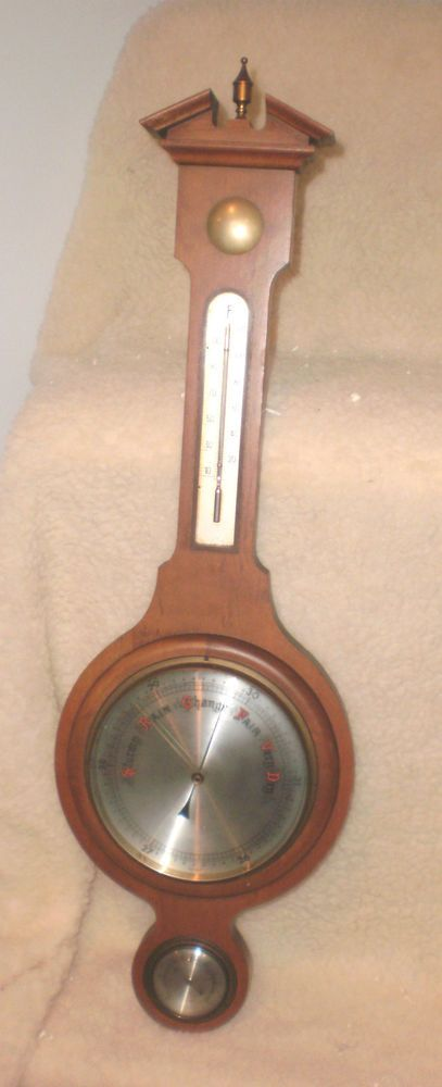 Antique Thermometer Barometer Hygrometer By Atco German Germany