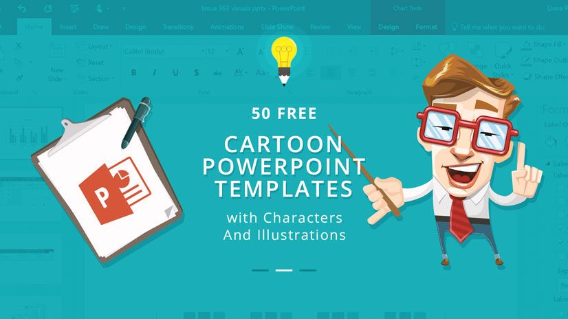 50 Free Cartoon Powerpoint Templates With Characters Illustrations Free Cartoons Powerpoint Templates Character Illustration