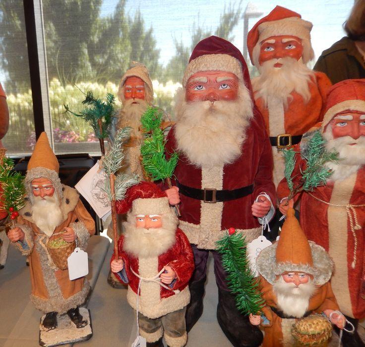 Glorious antique German Santa figures by longtime Glow dealer Kit - christmas lawn decorations sale