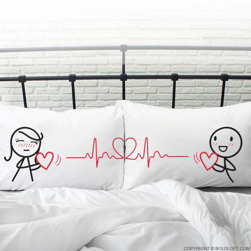 pin on couple pillowcases