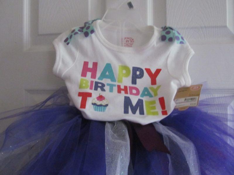 Now 99 Cent On Ebay Tutu Outfit Carters Happy Birthday Shirt Headband