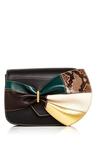 0a81e2772550 Leather Belt Bag With Multicolored Bow by MARNI Now Available on Moda  Operandi