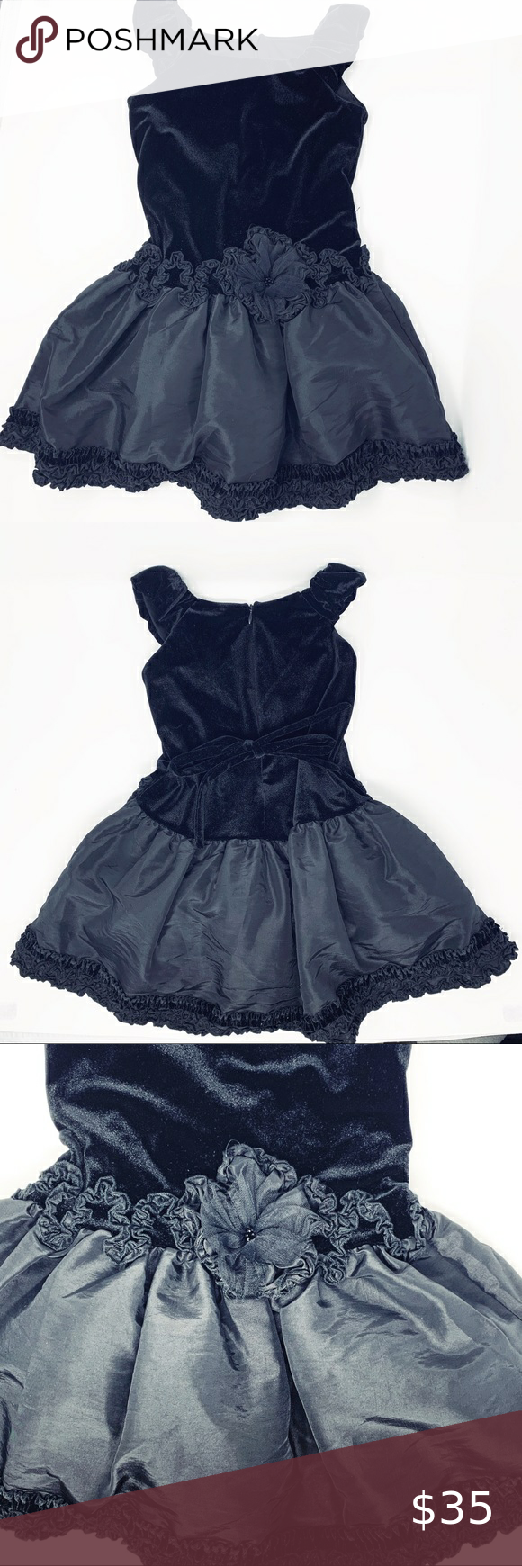Isobella And Chloe 4t Bailey Black Velvet Dress In 2021 Black Velvet Dress Velvet Dress Girls Boutique Dress [ 1740 x 580 Pixel ]