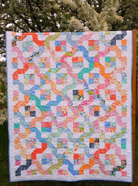 Winding nine patch quilt pattern pdf instant download layer cake or 25 off coupon code winding nine patch quilt pattern pdf instant download layer cake or jelly roll friendly via etsy fandeluxe Image collections