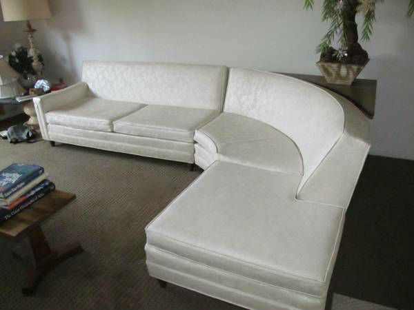 Vintage 1963 Modern Curved Sectional Sofa Curved Sectional