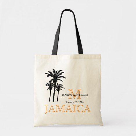 Destination Wedding Tote Bags Jamaica | Zazzle com