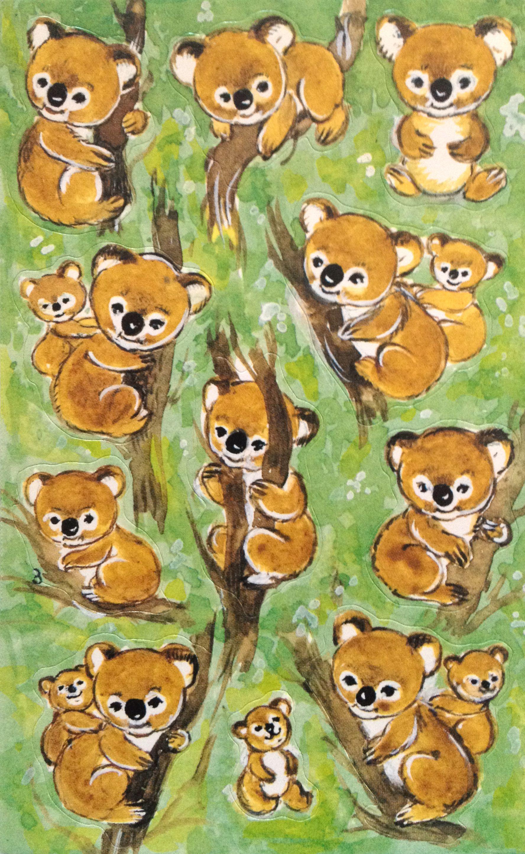 American Greetings Inc Boomerang Bear Vintage Stickers Pinterest