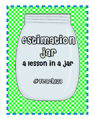 FREE estimation jar packet:  aligned with K-3 common core standards