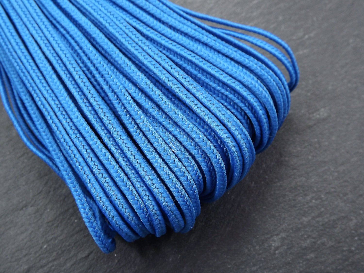 2mm Cobalt Blue Soutache Rayon Braided Cord Beading Sewing,Quilting Trimming String 10 Yards