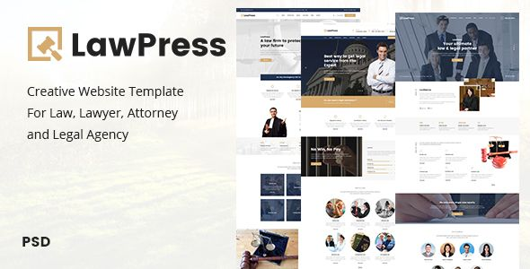 Lawpress Creative Website Template For Law Lawyer Attorney And